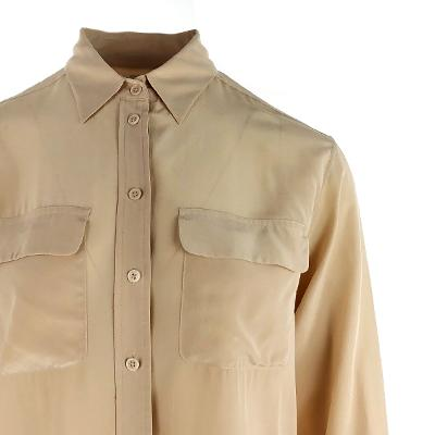 pocket point silky blouse